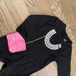 Baby Girls' Pearls & Purse Footie